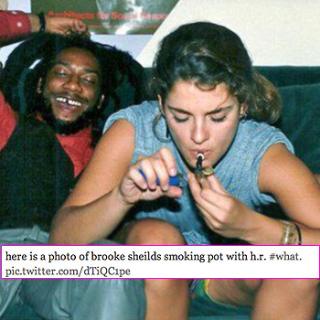 //brooke shields smoking pot