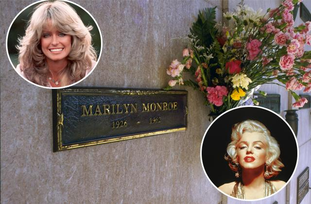 //cemetery spot next to marilyn monroe and farrah fawcett for sale pp