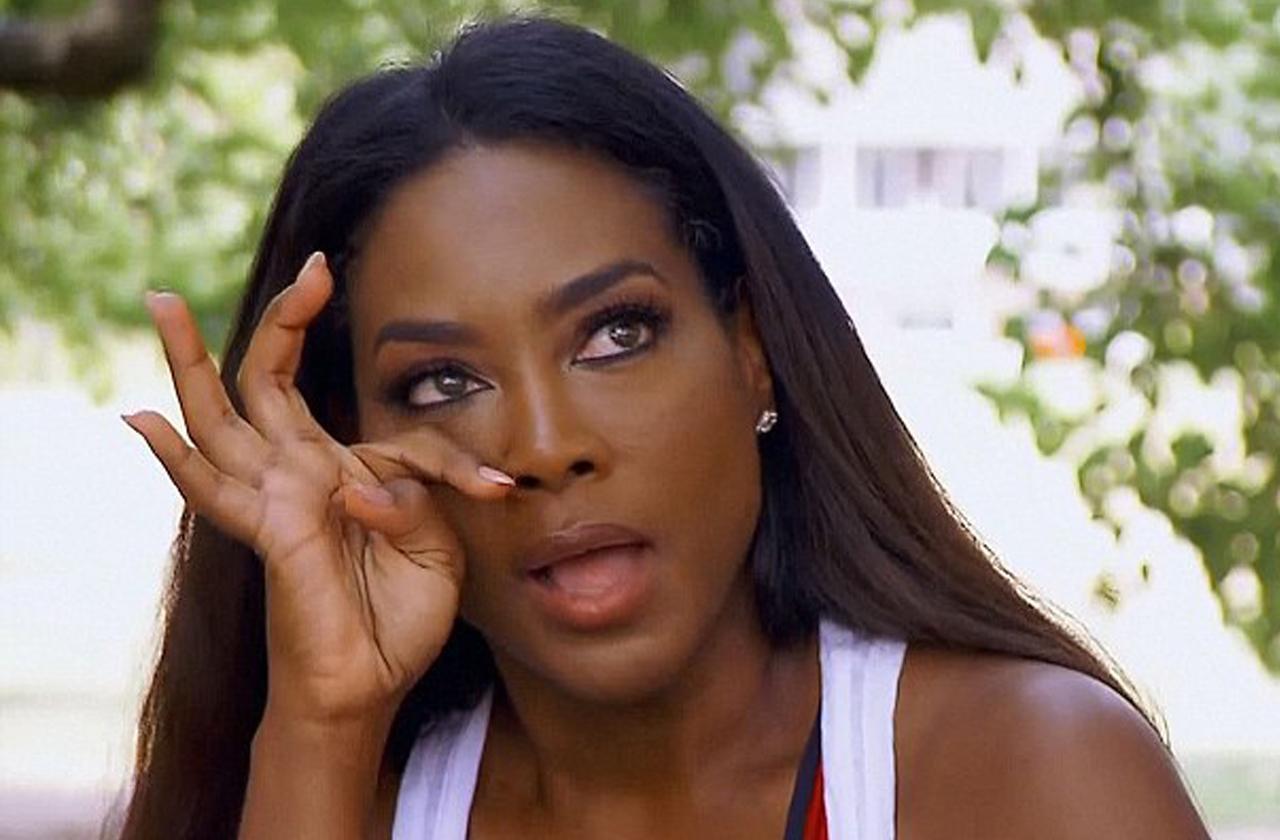 Kenya Moore Crying Baby Shower