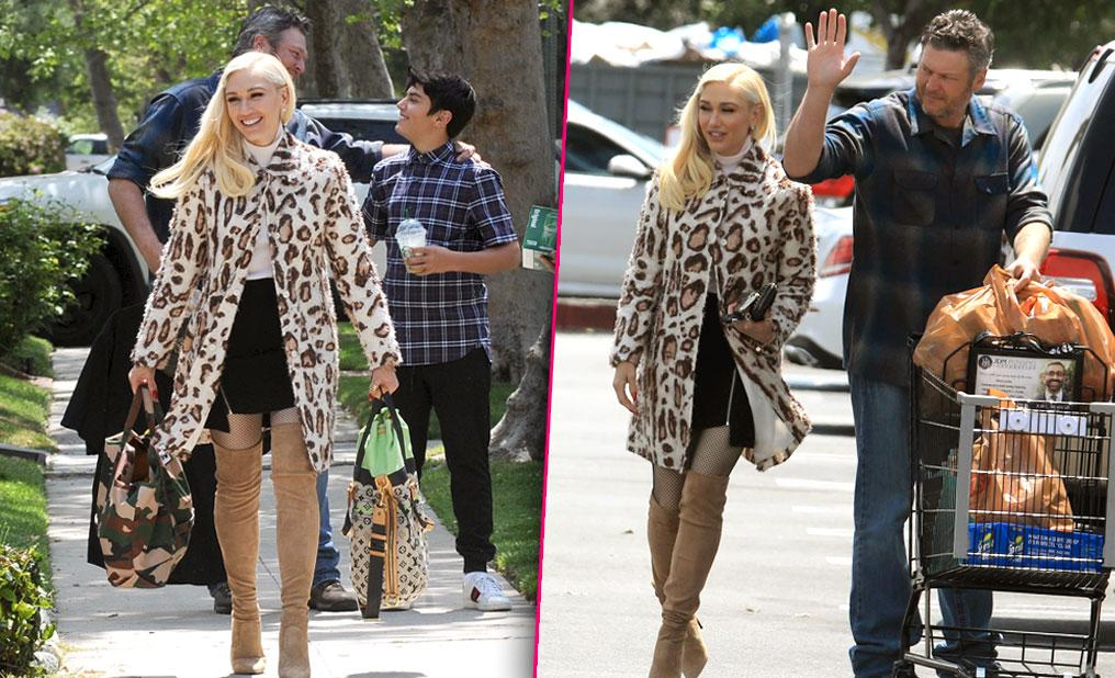 Gwen Stefani Packing On Pounds In Hopes Of Getting Pregnant Leopard print coat