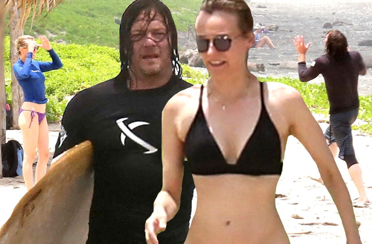 //Diane Kruger bikini Norman Reedus beach pp
