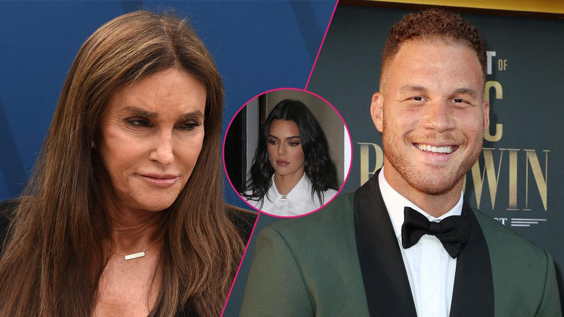 Left, Caitlyn Jenner; Right, Blake Griffin; center, Kendall Jenner