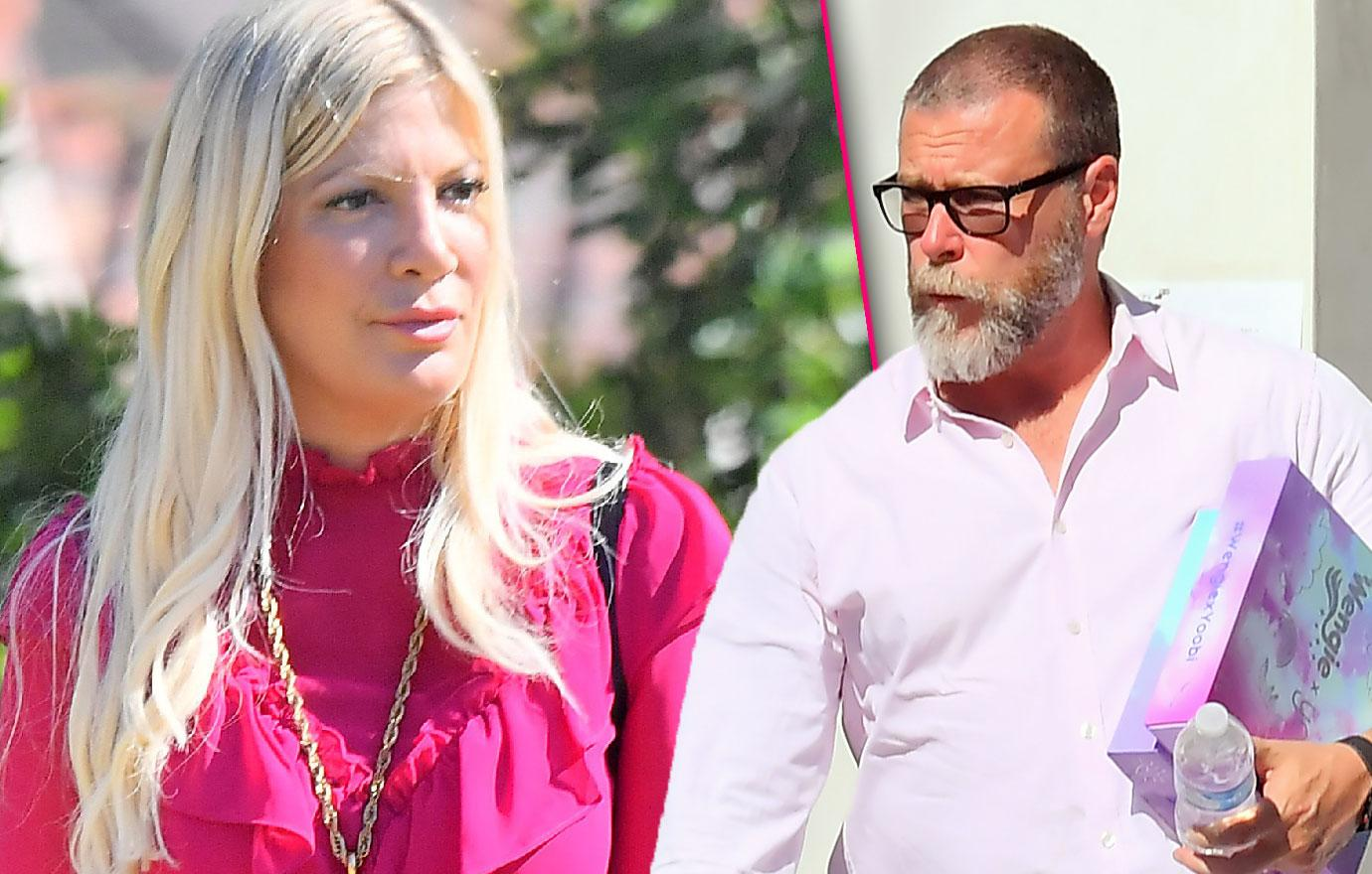 Tori Spelling Dean McDermott Leave Gift Suite Separately