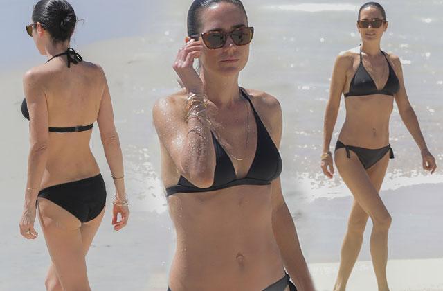 Paul Bettany Jennifer Connelly Bikini Beach St Barts Pics