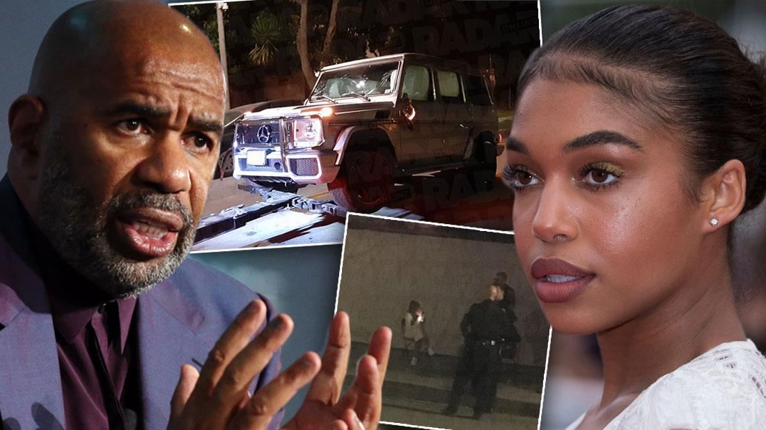Steve Harvey's Daughter Lori Arrested For Hit And Run: Photos