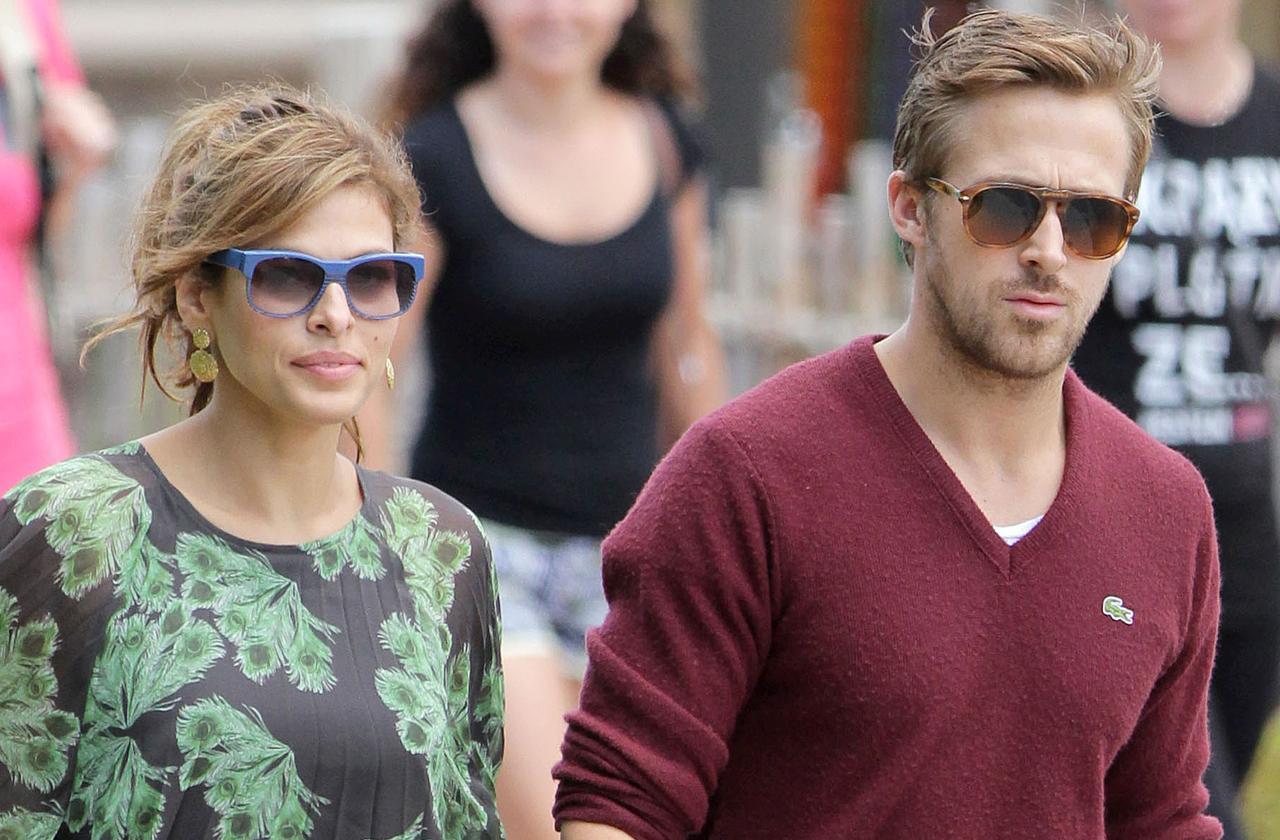 //ryan gosling eva mendes pregnant expecting baby  pp