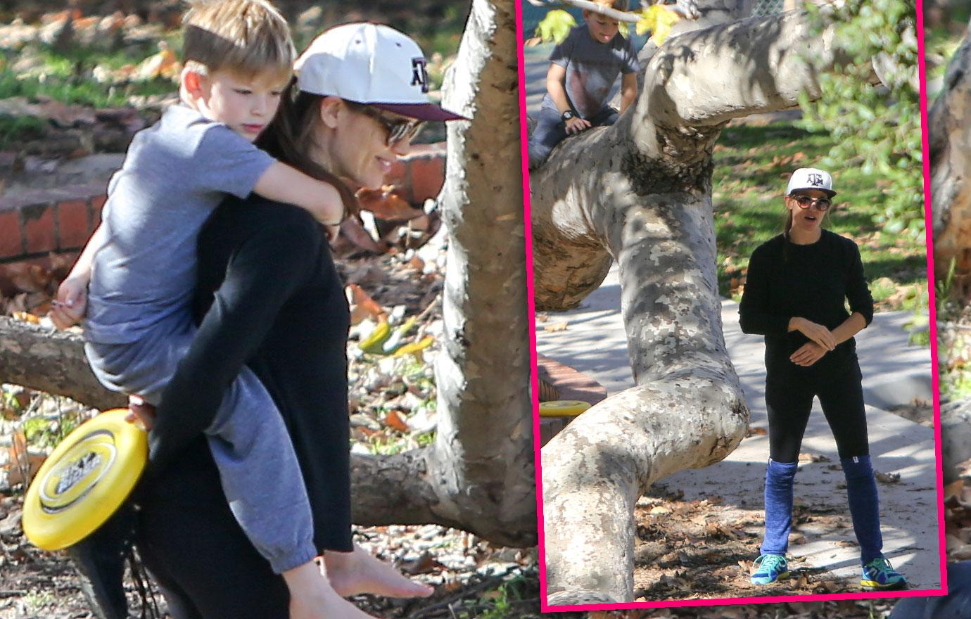 Jennifer Garner Goes To The Park With Samuel
