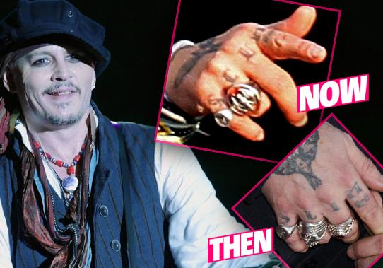//johnny depp changes tattoo scum abuse scandal pp
