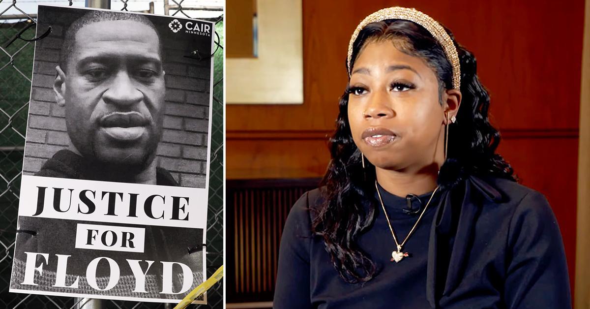 george floyd sister emotional interview derek chauvin trial rf
