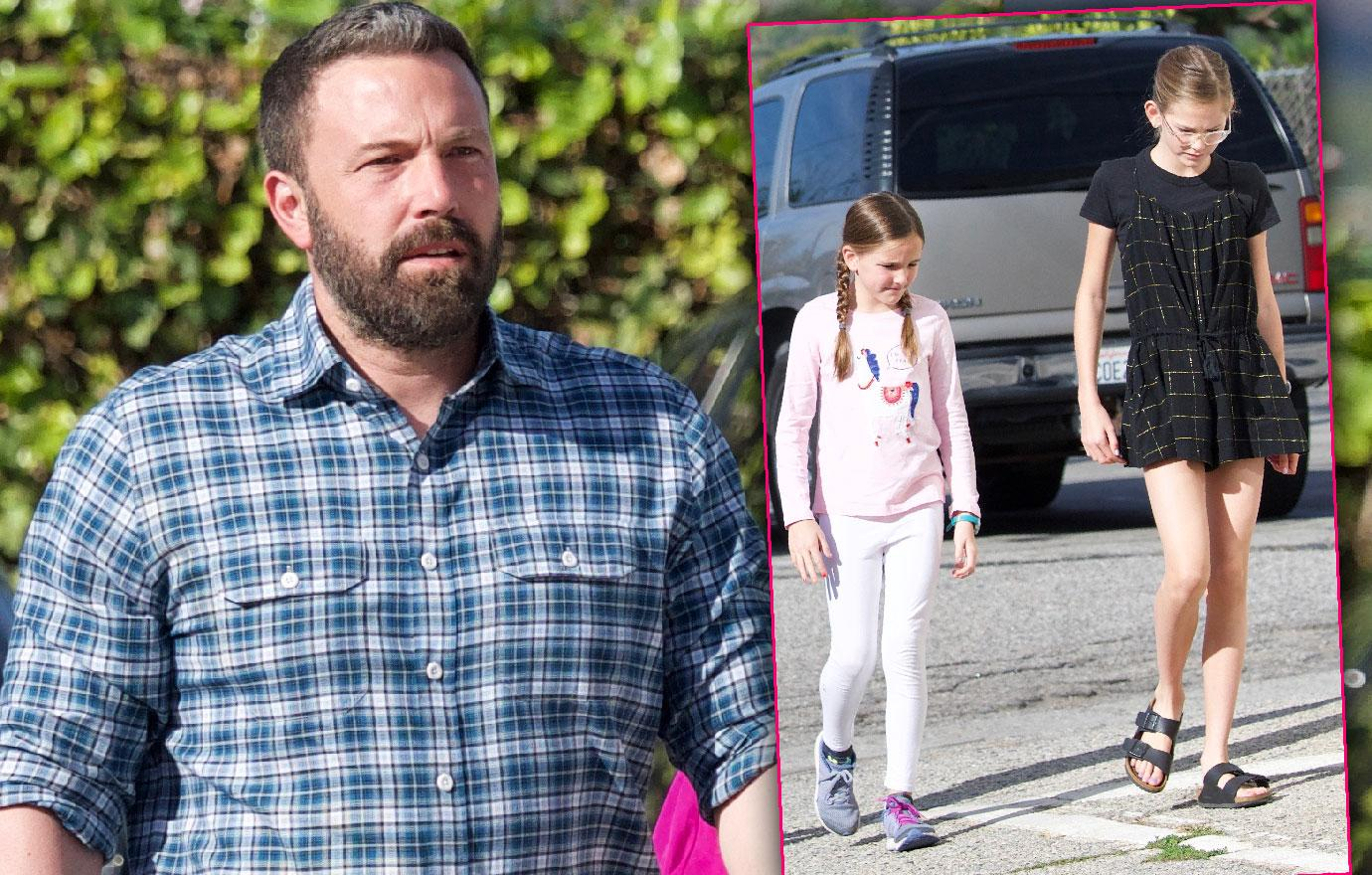 Ben Affleck Takes Kids To Church