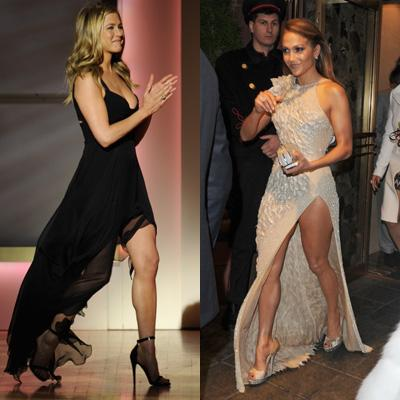 //jennifer lopez vs jennifer aniston dress