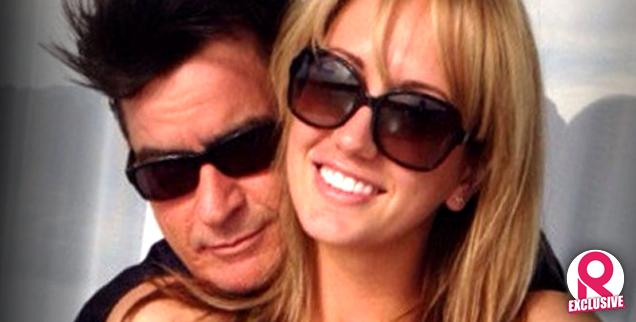 //charlie sheen brett rossi over top engagement party wide