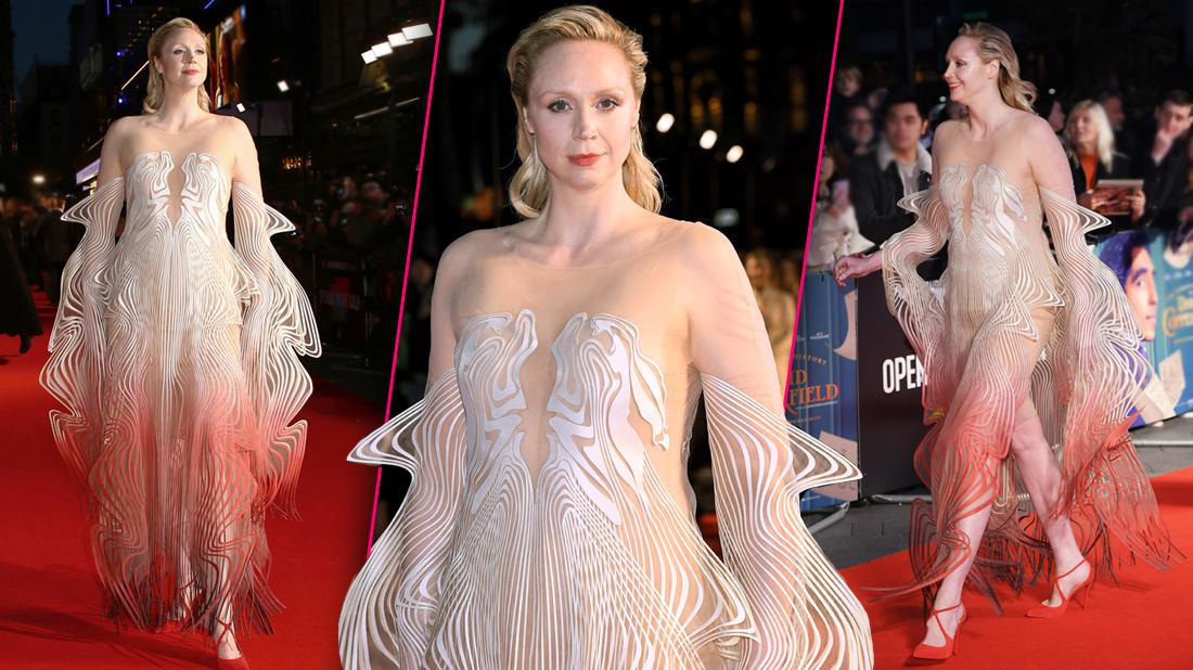 Gwendoline Christie Slays The Red Carpet In Gorgeous Sheer Gown At 'The Personal History of David Copperfield' Premiere