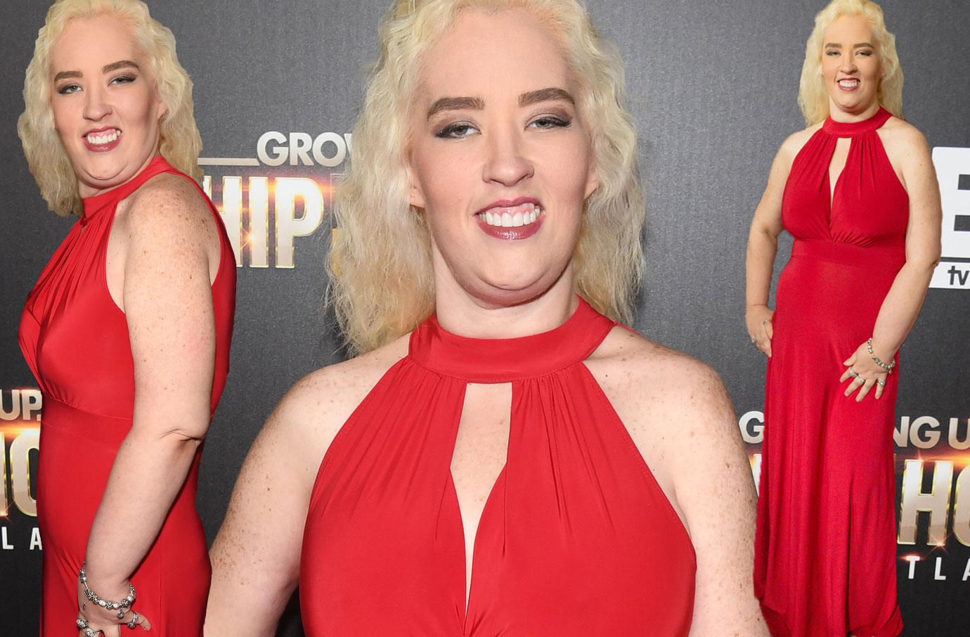 //mama june weight loss red dress premiere pp
