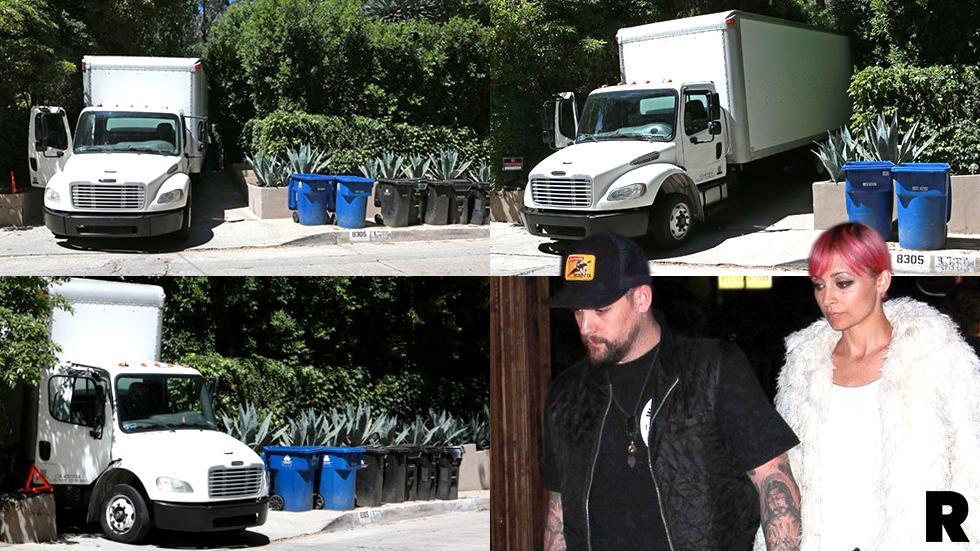 Nicole Richie Joel Madden Divorce Rumors Moving Trucks