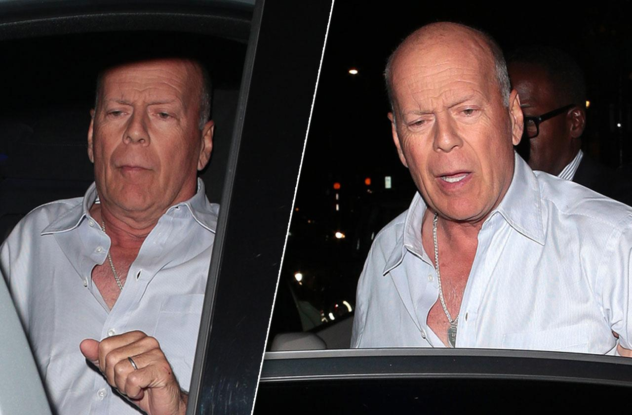 Bruce Willis Drunk Leaving Club Party