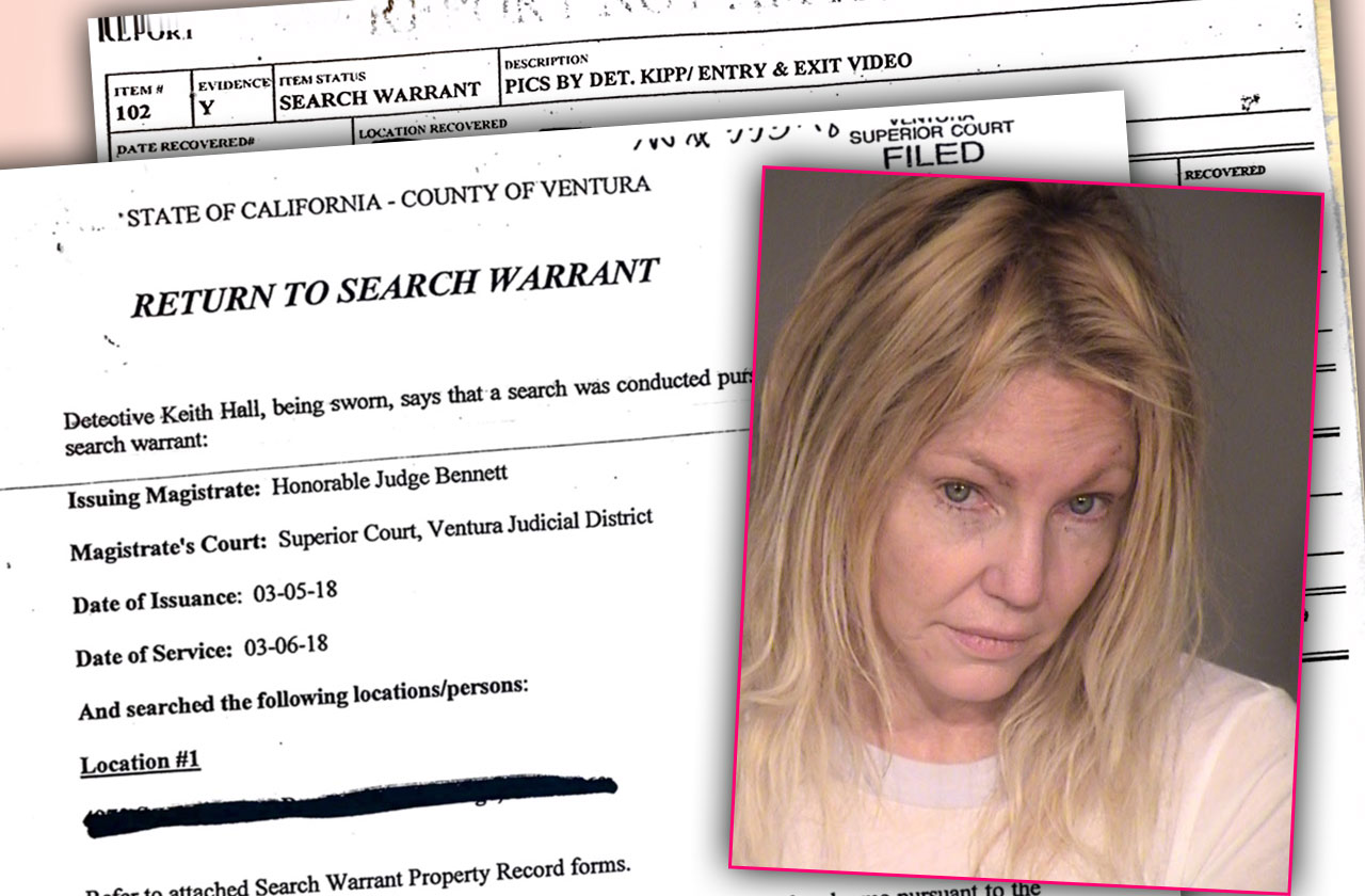 Heather Locklear Arrest Search Warrant Gun Suicide