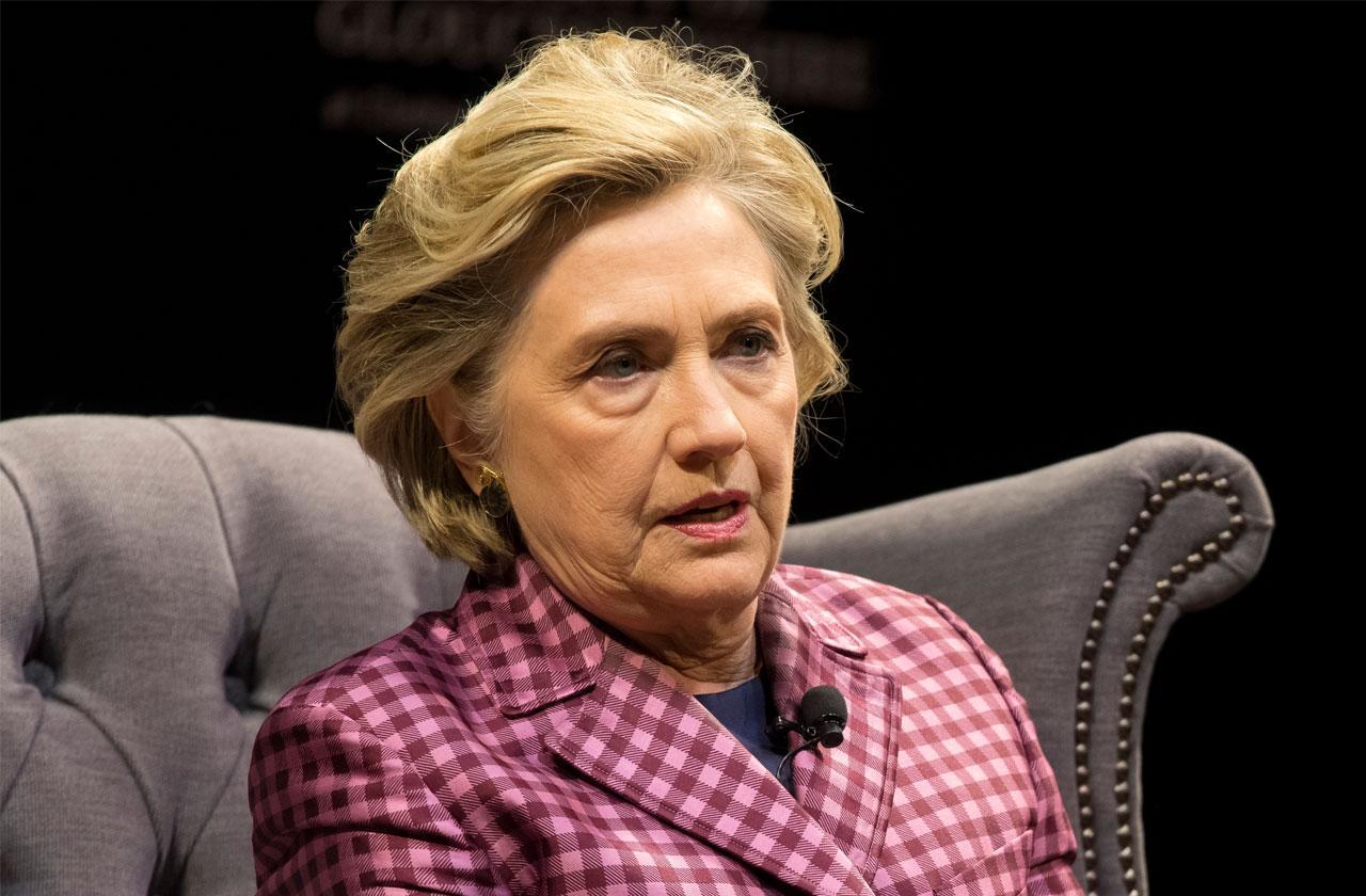 //Hillary clinton breaks toe fall stairs pp
