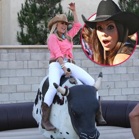 //heather dubrow tamra barney mechanical bull square