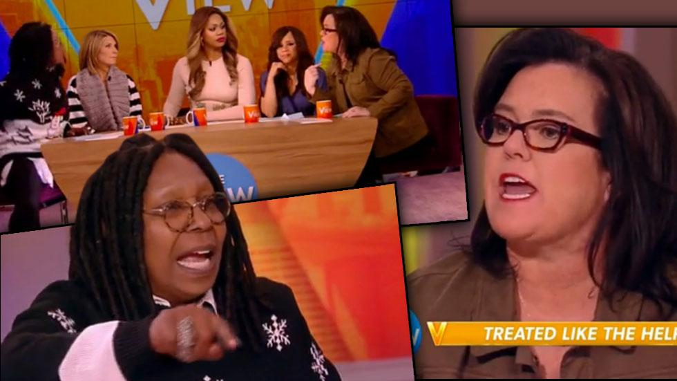 Whoopi Goldberg Rosie O'Donnell​ Shouting Match
