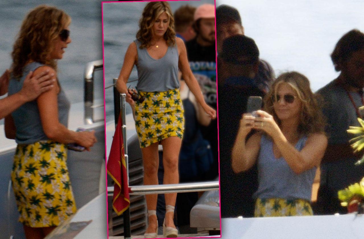 Jennifer Aniston Yacht Italy