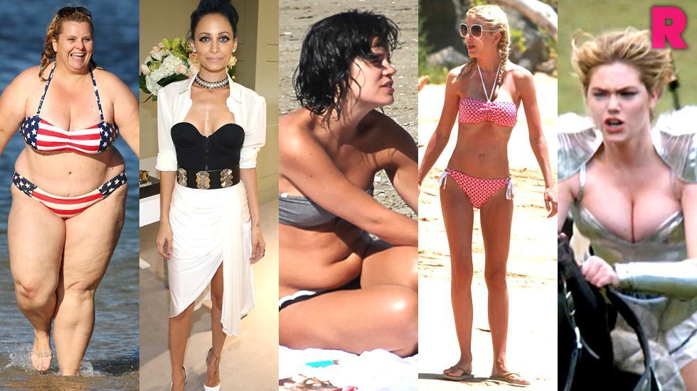 //from lumpy bumpy to skin bones kim kardashian rihanna heidi klum  other stars show off their not so sexy sides PP SL