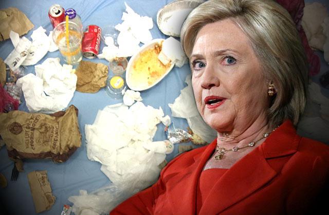 //hillary clinton secret service breach fat food trash