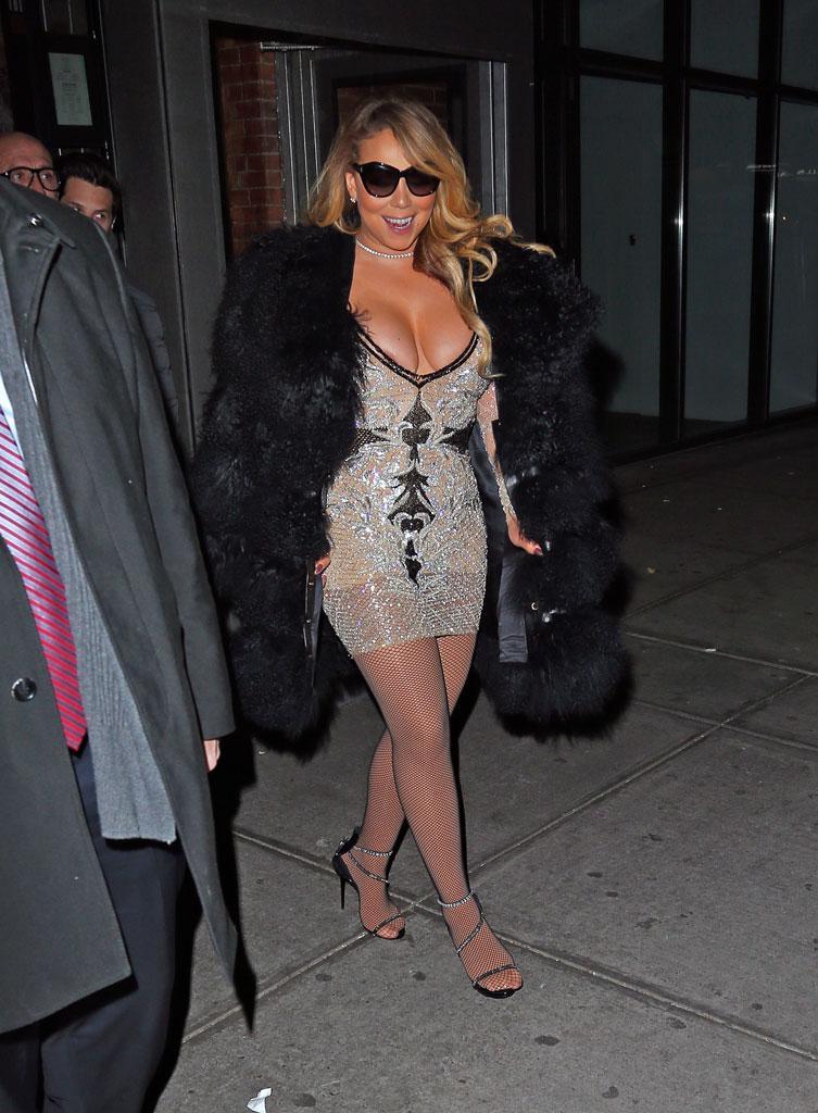 Mariah Carey Bares Thong In Skin-Tight Bodysuit Alongside