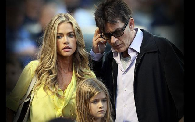 denise richards charlie sheen taking money daughters trust