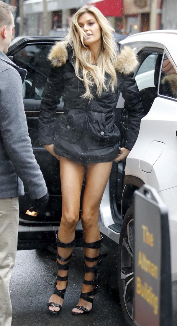 Samantha Hoopes Wardrobe Malfunctions On The Street