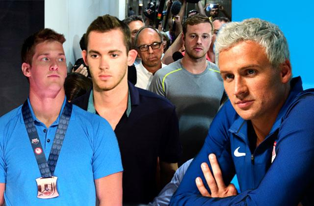 //ryan lochte gunpoint robbery gas station brawl cover up pp