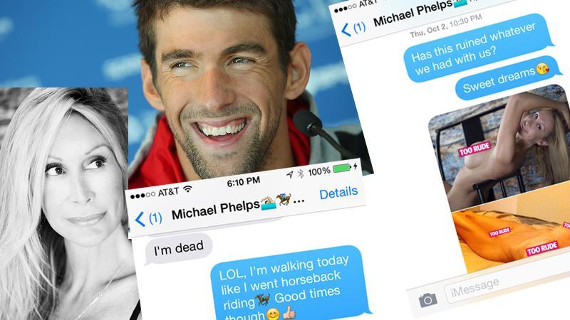 //michael phelps texts pp slider