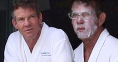 Dennis Quaid And Santa Auzina Have Spa Day