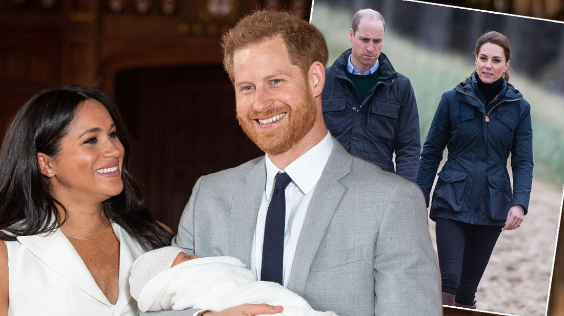 Kate & William Meet Meghan Markle & Prince Harry's Baby Archie