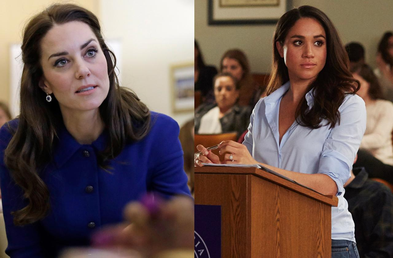 //meghan markle and kate middleton separated at christmas pp