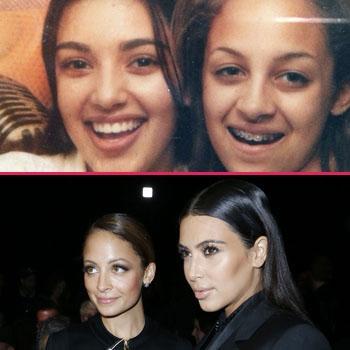 Nicole Richie Kim kardashian then and now