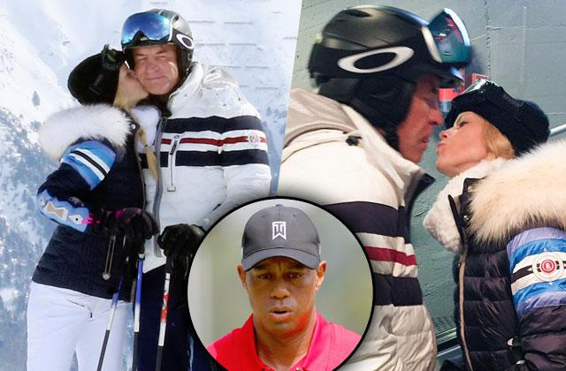 Elin Nordegren Boyfriend Chris Cline Skiing PDA tiger woods