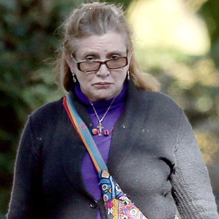 //carrie fisher off wagon pp