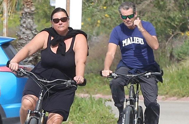 //pierce brosnan keely shaye smith marriage bike ride malibu
