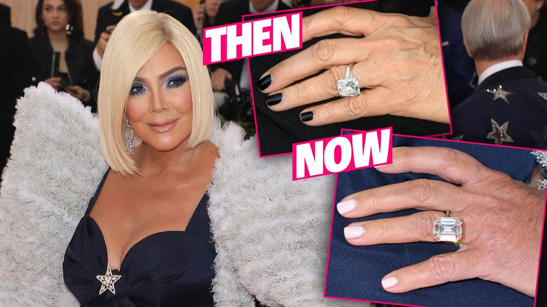 Kris Jenner Wears Caitlyn Engagement Ring Lookalike To Met Gala