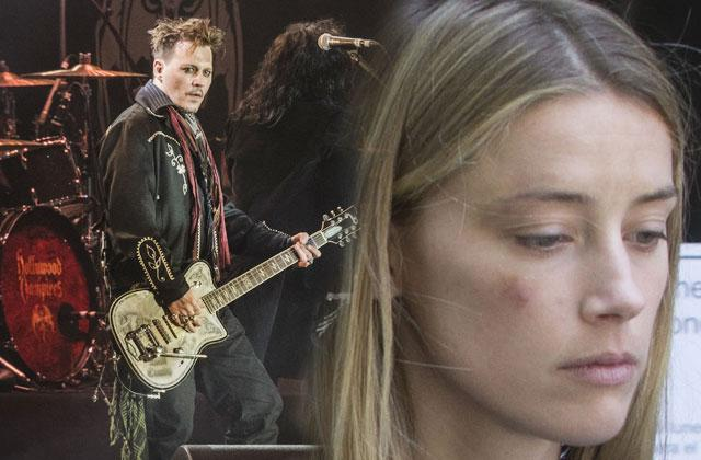 Amber Heard Accuses Johnny Depp Of Abuse -- New Allegations As Hollywood Vampires Performs