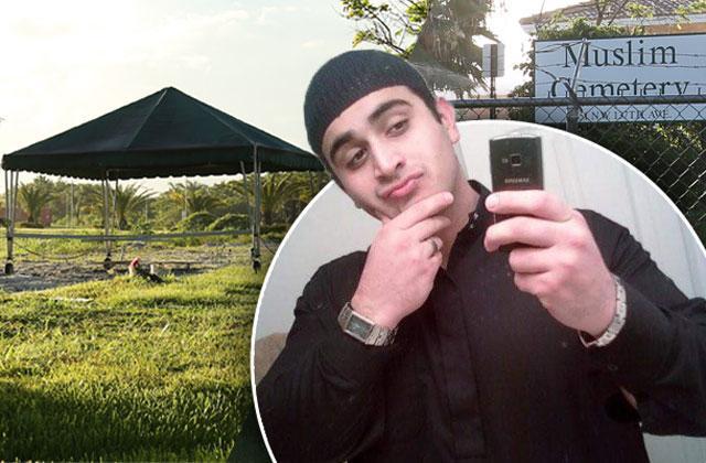 //Omar Mateen Orlando Shooter Buried Muslim Cemetery Miami pp