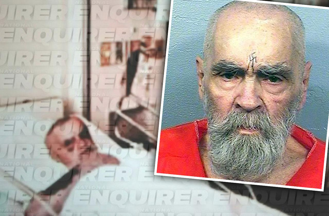 //Charles manson dead deathbed pp