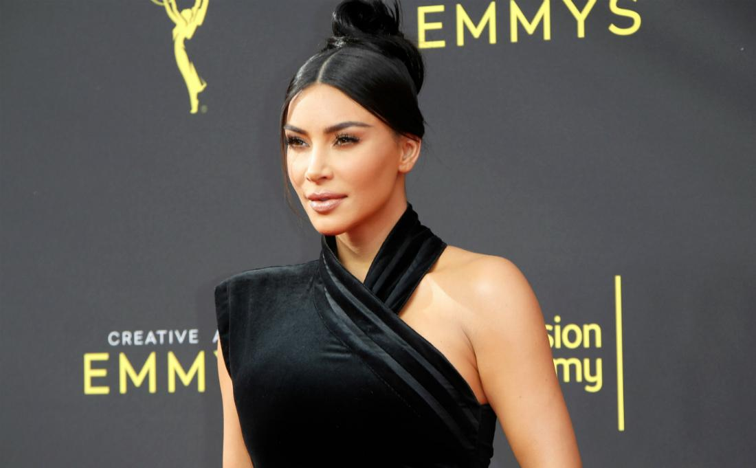Kim Kardashian at the 71st Annual Primetime Creative Arts Emmy Awards.