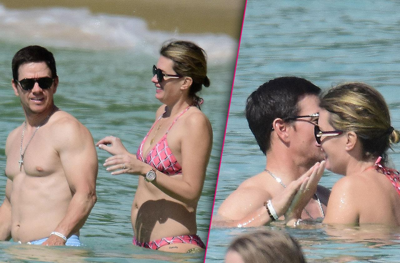mark wahlberg shirtless-photos beach vacation