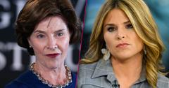 Former First Lady laura bush Not Fan daughter jenna Today Show Drinking