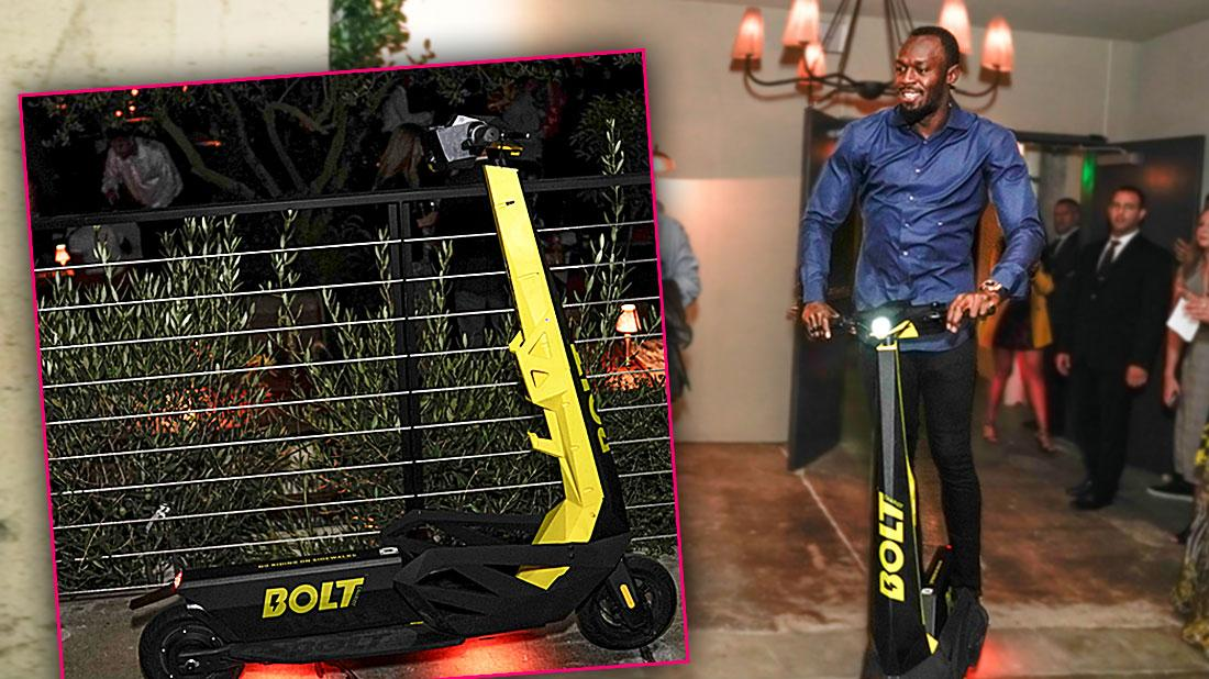 Usain Bolt Launches Bolt Mobility Scooter In Los Angeles