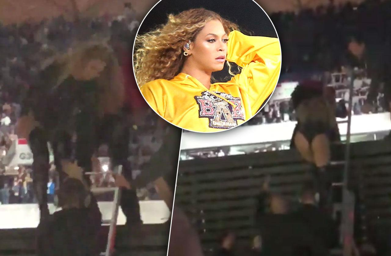 Beyonce Rescued Ladder Stage Malfunction