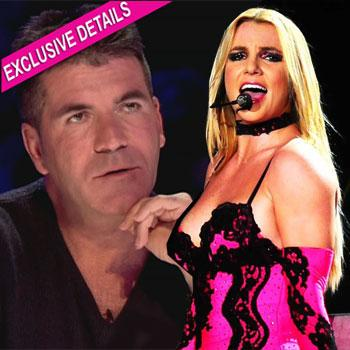 //britney spears judge simon cowell x factor