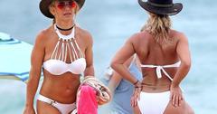 Britney Spears White Bikini Butt Cowboy Hat Hawaii